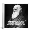 iCanvas Charles Darwin Quote Graphic Art on Canvas