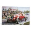 iCanvas Cars and Motorcycles Alfa Romeo Heading to Victory Painting Print on Canvas