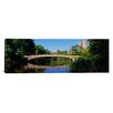 iCanvas Panoramic Bridge across a Lake, Central Park, New York Photographic Print on Canvas