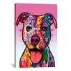 iCanvas 'Cherish The Pit Bull' by Dean Russo Graphic Art on Canvas