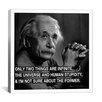 iCanvas Albert Einstein Quote Photographic Print on Canvas