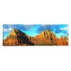 iCanvas Panoramic Chapel on Rock Formations, Chapel of The Holy Cross, Sedona, Arizona Photographic Print on Canvas