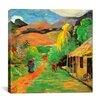 "iCanvas ""Chemin a Papeete"" Canvas Wall Art by Paul Gauguin"