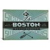iCanvas 'Boston, Massachusetts' by Anderson Design Group Vintage Advertisement on Canvas