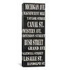 iCanvas Typography Willow Way Studios Chicago Streets, Inc Textual Art on Canvas