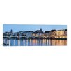 iCanvas Panoramic Mittlere Rheinbrucke, St. Martin's Church, River Rhine, Basel, Switzerland Photographic Print on Canvas