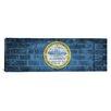 iCanvas Boston, Massachusetts Flag, Grunge Bricks Panoramic Graphic Art on Canvas