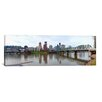 iCanvas Panoramic Bridge across a River with City Skyline in The Background, Willamette River, Portland, Oregon 2010 Photographic Print on Canvas