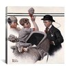 iCanvas 'Boy with Baby Carriage' by Norman Rockwell Painting Print on Canvas
