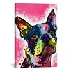 iCanvas 'Boston Terrier' by Dean Russo Graphic Art on Canvas