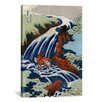 iCanvas Ando Hiroshige 'Yoshitsune Umarai Waterfall at Yashino In Washu, 1833' by Utagawa Hiroshige I Graphic Art on Canvas