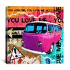 "iCanvas ""You Love Me"" by Luz Graphics Graphic Art on Canvas"