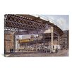 iCanvas '2Nd Ave El, Ca 1896' by Stanton Manolakas Painting Print on Canvas