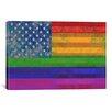 iCanvas American Rainbow Flag, Gay Lesbian Rights Graphic Art on Canvas