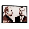 iCanvas Alphonse Gabriel Al Capone Mugshot 2 - Chicago Gangster Outlaw Painting Print on Canvas