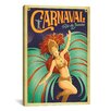 iCanvas 'Carnaval - Rio De Janeiro, Brazil' by Anderson Design Group Vintage Advertisement on Canvas