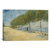 iCanvas 'Along the Seine' by Vincent van Gogh Painting Print on Canvas