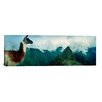 iCanvas Panoramic Alpaca with Machu Picchu in the Background, Peru Photographic Print on Canvas
