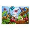 iCanvas Kids Children Cartoon Bugs Canvas Wall Art