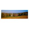 iCanvas Panoramic Church and a Barn in a Field, Peacham, Vermont Photographic Print on Canvas