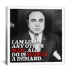 iCanvas Al Capone Quote Canvas Wall Art