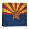 iCanvas Arizona Flag, Old Western Map Grunge Graphic Art on Canvas