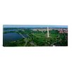iCanvas Panoramic Aerial View of a Monument, Tidal Basin, Constitution Avenue, Washington D.C Photographic Print on Canvas