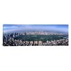 iCanvas Panoramic Aerial Central Park New York Photographic Print on Canvas