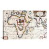 iCanvas Antique Asia and Africa Map Graphic Art on Canvas
