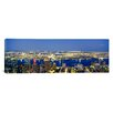 iCanvas Panoramic Aerial View of Buildings Lit up at Dusk, Manhattan, NYC, New York City, New York State Photographic Print on Canvas