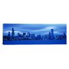 iCanvas Panoramic View of an Urban Skyline at Dusk, Chicago, Illinois Photographic Print on Canvas