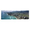 iCanvas Panoramic Aerial View of Buildings at the Waterfront, Waikiki Beach, Honolulu, Oahu, Hawaii Photographic Print on Canvas
