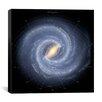 iCanvas Annotated Roadmap of the Milky Way (NASA) Canvas Wall Art