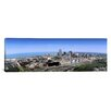 iCanvas Panoramic Aerial View of Buildings in a City Cleveland, Cuyahoga County, Ohio Photographic Print on Canvas