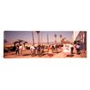 iCanvas Panoramic People Walking on The Sidewalk, Venice, Los Angeles, California Photographic Print on Canvas