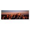 iCanvas Panoramic Skyline at Dusk, Los Angeles, California Photographic Print on Canvas