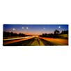 iCanvas Panoramic Mass Transit Tracks in Kennedy Expressway, Chicago, Illinois Photographic Print on Canvas