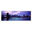 iCanvas Panoramic Skyscrapers in a City, Brooklyn Bridge, New York Photographic Print on Canvas