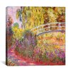 iCanvas 'Japanese Bridge, Pond with Water Lilies' by Claude Monet Painting Print on Canvas