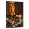 iCanvas 'Jar of Peaches (Das Pfirsichglas)' by Claude Monet Painting Print on Canvas