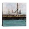 """iCanvas """"Jetty at Boulogne"""" Canvas Wall Art by Edouard Manet"""
