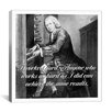 iCanvas Icons, Heroes and Legends Johannes Bach Quote Graphic Art on Canvas