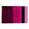 """iCanvas """"Girls Room Barby Striped"""" Graphic Art on Canvas"""