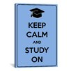 iCanvas Keep Calm and Study On Textual Art on Canvas