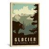 iCanvas 'Glacier National Park' by Anderson Design Group Vintage Advertisement on Canvas