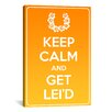 iCanvas Keep Calm and Get Lei'd Textual Art on Canvas