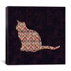 iCanvas 'Ikat Cat' by Budi Satria Kwan Graphic Art on Canvas
