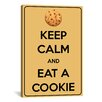 iCanvas Keep Calm and Eat a Cookie Graphic Art on Canvas