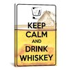 iCanvas Keep Calm and Drink Whiskey Textual Art on Canvas