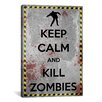 iCanvas Keep Calm and Kill Zombies Textual Art on Canvas